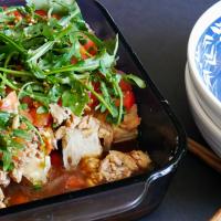 Salmon & Tofu Salad