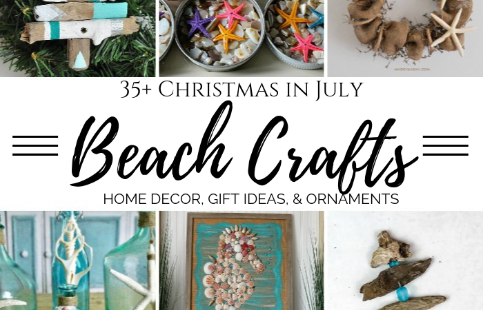 35+ Christmas in July Beach Crafts – Seashells, Sea Glass, & More!