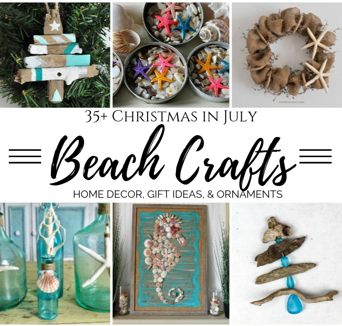 35 Christmas In July Beach Crafts Seashells Sea Glass More My Pinterventures