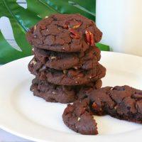 Triple Chocolate Fudge Cake Mix Cookies