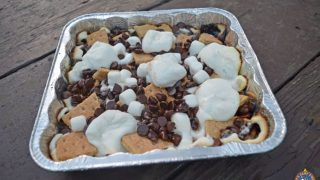 S'mores Nachos Camping Recipe Made Over the Campfire