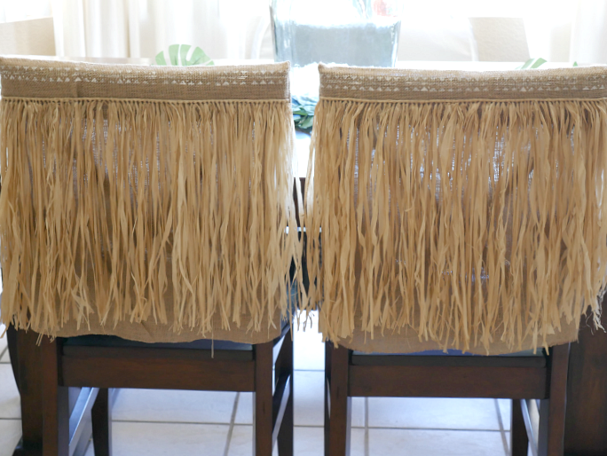 2 tropical chair covers