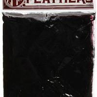 "Zucker Feather Products Loose Turkey Flats Dyed Feathers, 4-6"", Black"
