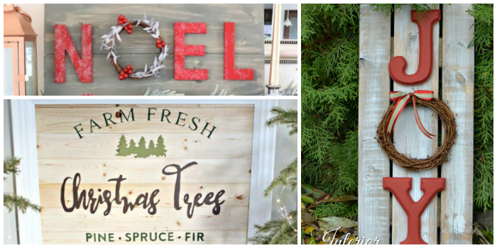 Holiday Favorites featured by top US food blog, Practically Homemade: Rustic signs 1