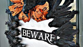 Create a Halloween Wreath with Creepy Crows