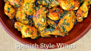 Spanish Style Chicken Wings