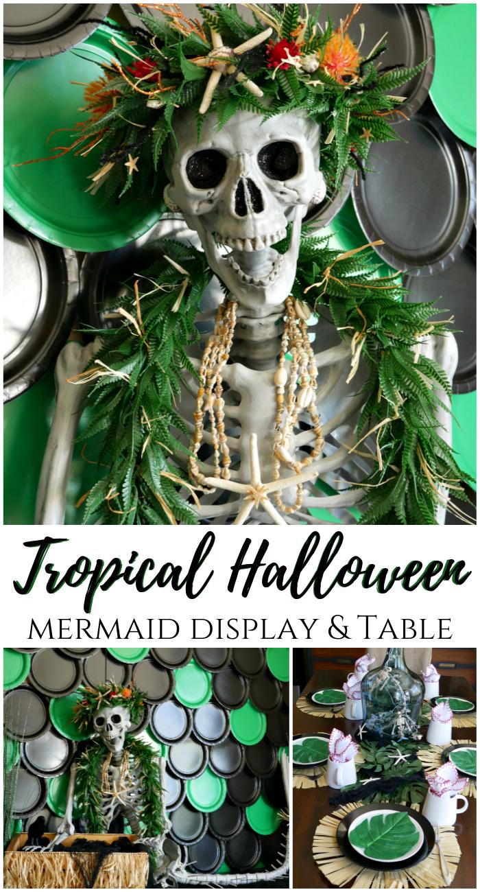 Tropical Halloween Mermaid display