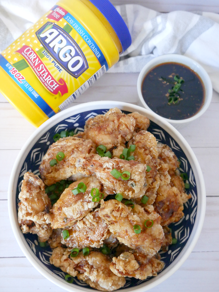 Crispy ginger garlic chicken wings sauce