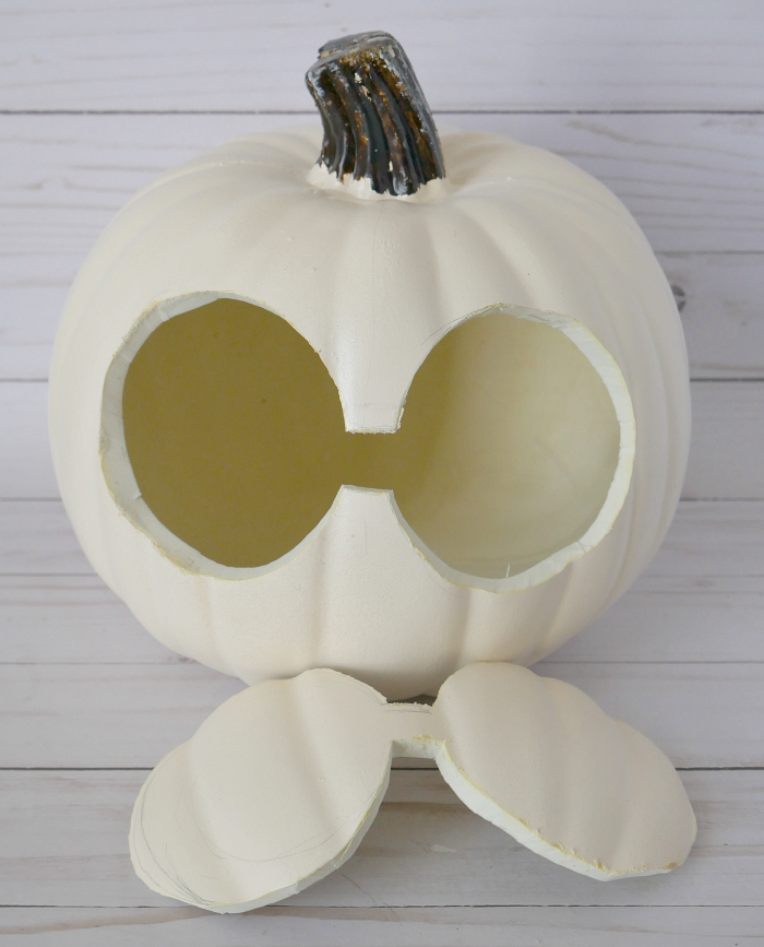 DIY Halloween Pumpkin Hawaiian Warrior Helmet Eyes