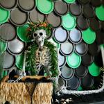 Tropical mermaid Halloween plate backdrop