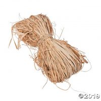 Natural Dried Raffia Ribbon | Oriental Trading