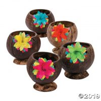 Coconut Cups with Flower | Oriental Trading