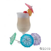 Hibiscus Cocktail Parasols