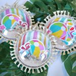 Luau Santa Beach Ball Christmas Ornament