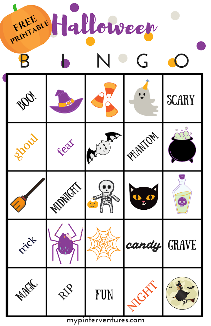 Free Halloween Bingo Printable