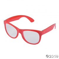 Red Clear Lens Glasses - 12 Pc. | Oriental Trading