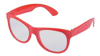 Red Clear Lens Glasses - 12 Pc.