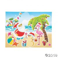 Luau Christmas Sticker Scenes