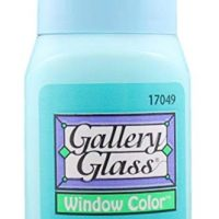 Plaid Gallery Glass Window Color in Assorted Colors (2 oz), 17049, Aqua