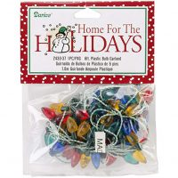 Darice Plastic Christmas Bulbs, 6-Feet, Garland-Multicolor