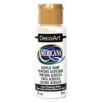 DecoArt DA-01 Americana Acrylic Paint, 2-Ounce, Titanium White