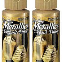 2-Pack - DecoArt Dazzling Metallics Acrylic Colors - Splendid Gold, 2-Ounces Each