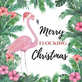Flamingo Christmas Printable