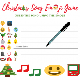 Christmas Song Emoji Game
