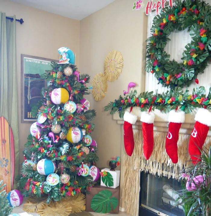 Luau Santa Christmas Tree