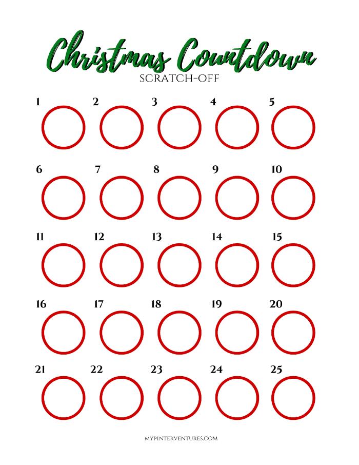 Scratch Off Christmas Advent Calendar – My Pinterventures