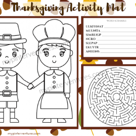 Printable Thanksgiving Activity Mats