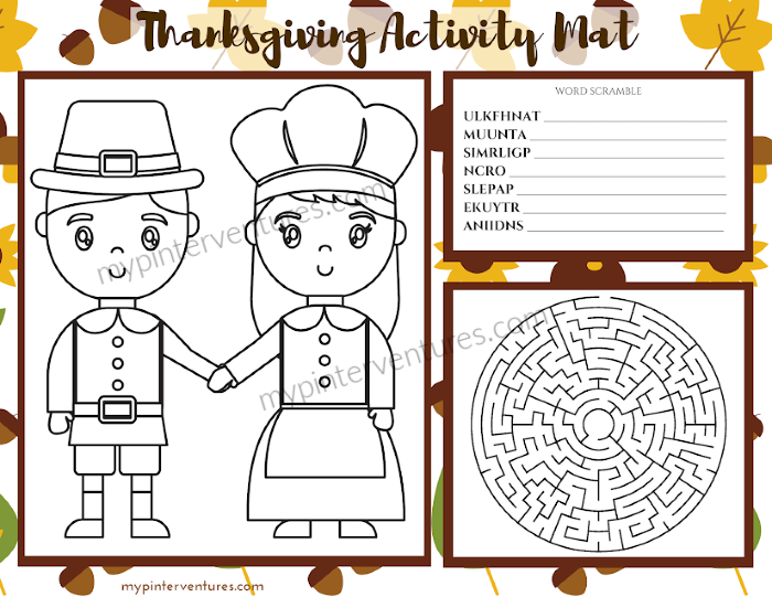 Thanksgiving Activity Mat 2