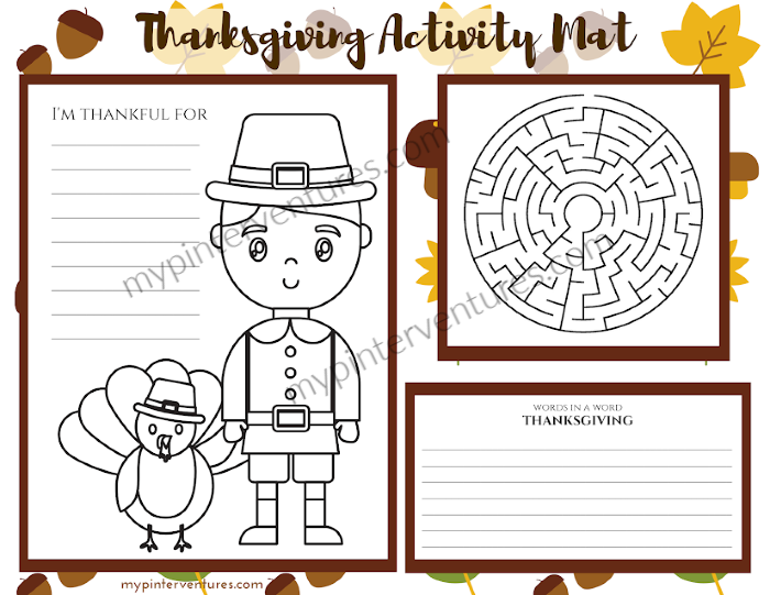 Thanksgiving Activity Mat 1