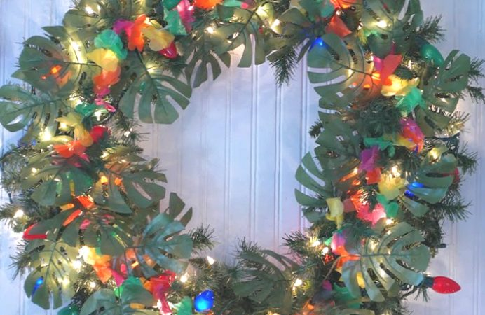 Bright Tropical Christmas Wreath