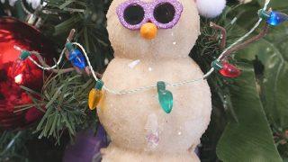 DIY Sand Snowman Ornament