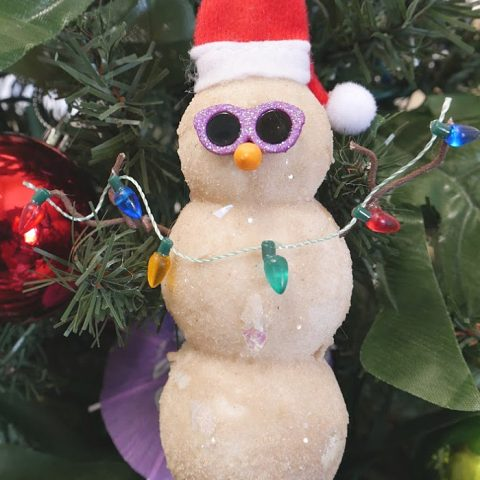 How to Make a Sand Snowman Ornament