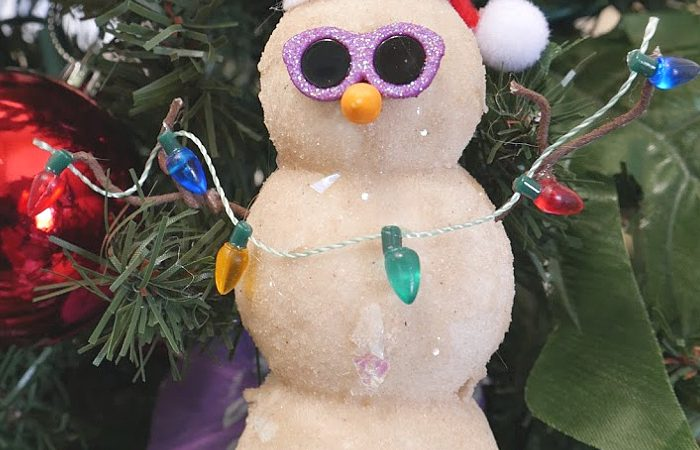 DIY Sand Snowman Ornament