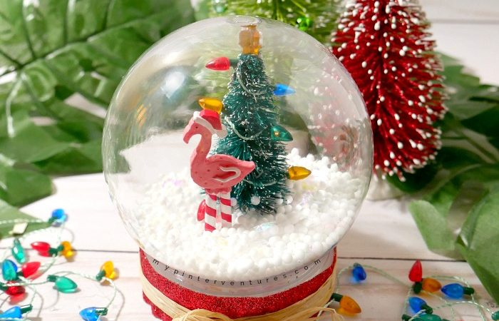 Dollar Store Waterless Snow Globe – Christmas Kid Activity