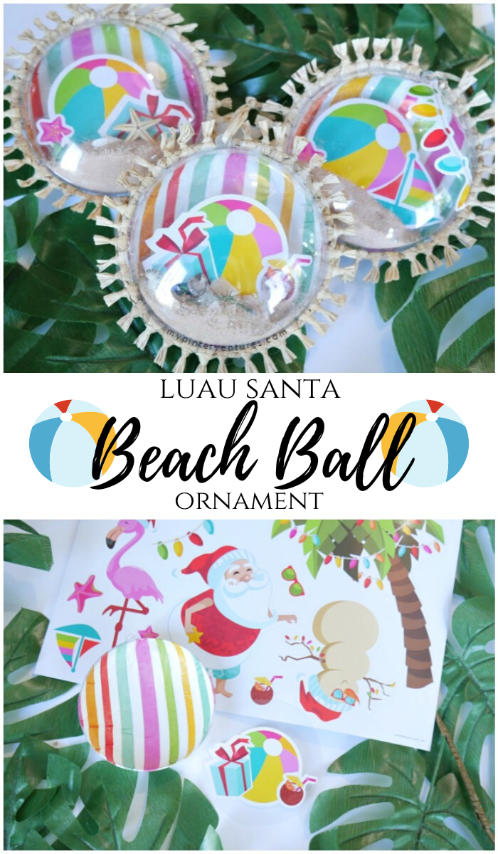 Luau Santa Beach Ball Ornament