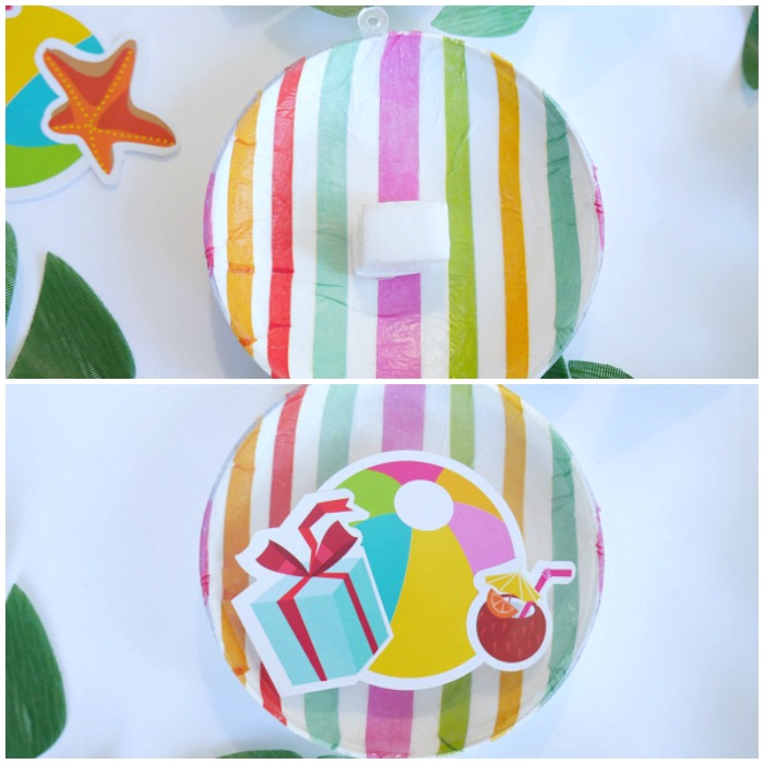Luau Santa Beach Ball Ornaments foam