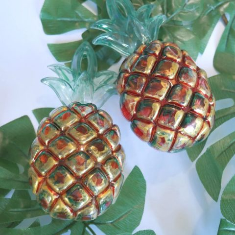 Painted Pineapple Container Ornament