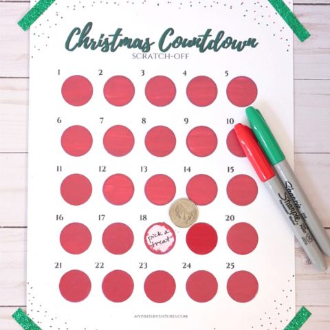 How to Make a Scratch Off Christmas Advent Calendar