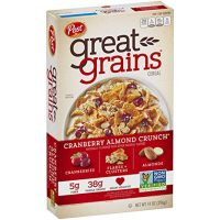 Post Great Grains Cranberry Almond Crunch Whole Grain Cereal, 14 Ounce Box