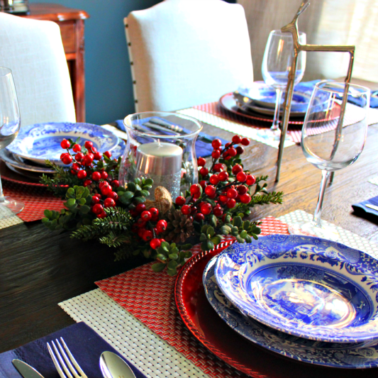 How to Create a Simple Holiday Tablescape - C'mon Get Crafty