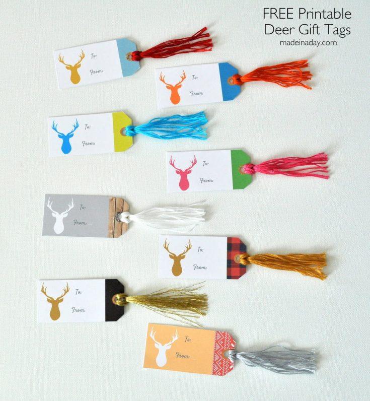 Deer Gift Tags FREE Printable