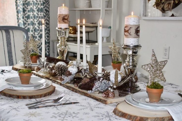 Silver and Gold Christmas Tablescape Our Crafty Mom