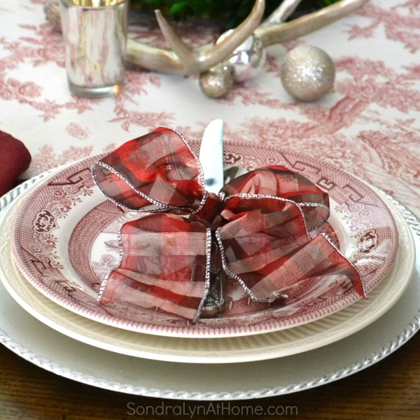 Merry and Toile Tablescape