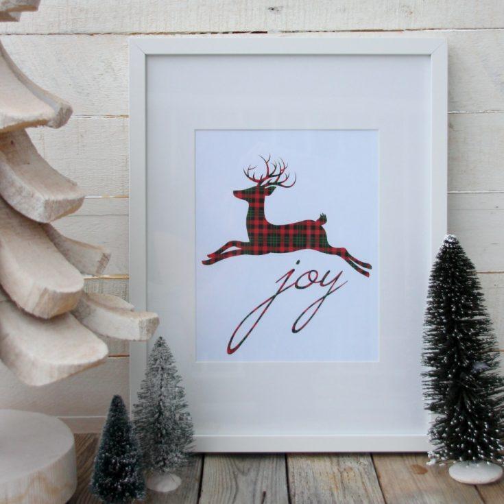 12 Plaid & Buffalo Check Free Christmas Printables