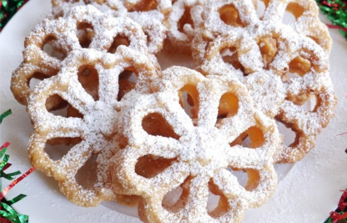 Fried Rosette Cookies
