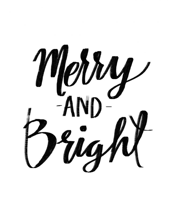 Merry and Bright - Free Printable